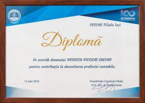 Diplomă - CECCAR Filiala Iași