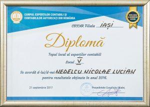 Diplomă - Topul local al experților contabili
