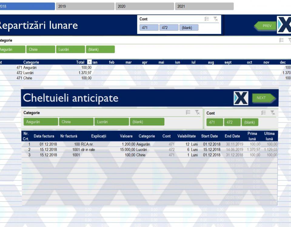 Optimizare programări anuale pe obiective - Repartizări lunare