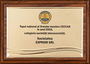 Topul național al firmelor membre CECCAR în anul 2016, categoria societăți microsocietăți